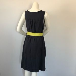 Anthropologie Dresses - Anthropologie Maeve navy dress with green bow